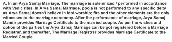 What Is Arya Samaj Mandir Marriage?