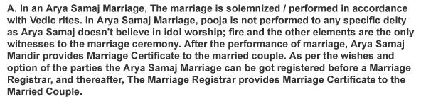 What Is Arya Samaj Mandir Marriage?
