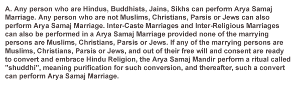 Who May Perform Arya Samaj Marriage?