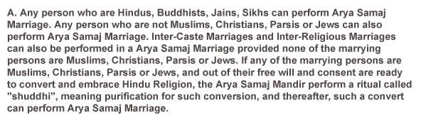 Who May Perform Arya Samaj Marriage?