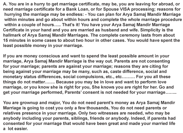 Why Arya Samaj Marriage Going Popular Day By Day?